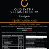 etichetta latta olio extra vergine d'oliva Luigi Tenuta Romano 1920